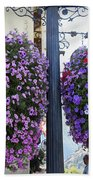 Flowers In Balance Beach Towel by Mae Wertz