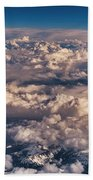 Flying Over The Rocky Mountains Beach Towel