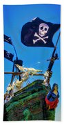Flying The Pirates Colors Beach Towel