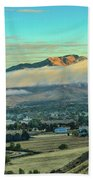 Fog Over Squaw Butte Beach Towel