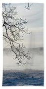 Fog Over The River Beach Towel