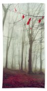 Forest In December Mist Beach Towel
