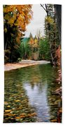 Forest With River Beach Towel