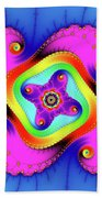 Fractal Art With Bold Colors Square Beach Towel