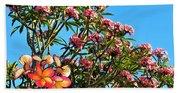Frangipani Tree Beach Sheet
