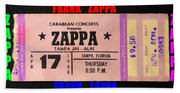 Frank Zappa 1980 Concert Ticket Beach Towel