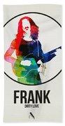 Frank Zappa Watercolor Beach Sheet