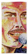 Freddie Mercury Portrait Beach Towel