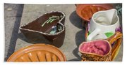 French Flea Market Pottery Beach Sheet
