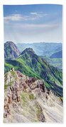 French Village In The Pyrenees Beach Towel