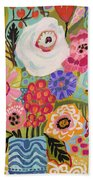 Fresh Flowers In Vase II    Beach Towel