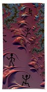 Frolicking In Fractal Land Beach Towel by Shelli Fitzpatrick