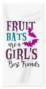 Fruit Bat Conservation Halloween Flying Fox Women Light Beach Towel