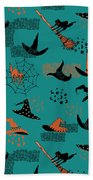 Funny Witch Hats Art Beach Towel