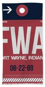 Fwa Fort Wayne Luggage Tag II Beach Towel