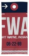 Fwa Fort Wayne Luggage Tag II Beach Sheet