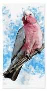 G Is For Galah Beach Towel