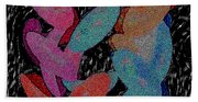 Galaxies Merging Beach Sheet