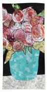 Garden Roses Beach Towel