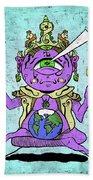 Gautama Buddha Colour Illustration Beach Sheet