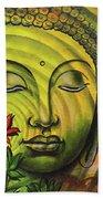 Gautama Buddha Ripple Effect Portrait Beach Towel