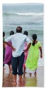 Gazing Towards The Rough Sea  Beach Towel