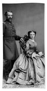 General Custer And His Wife Libbie Beach Sheet