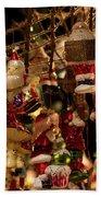German Christmas Ornaments Beach Sheet