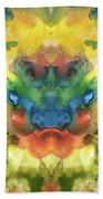Ghost - Watercolor Painting On Paper Beach Towel