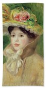 Girl With Yellow Cape, 1901 Beach Towel