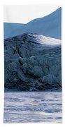 Glacier Cracked Under Pressure Beach Towel