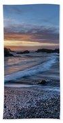 Glass Beach Sunset Beach Towel