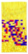 Glitched Love Beach Towel by Bee-Bee Deigner