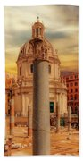 Glories Past And Present,  Rome Beach Towel