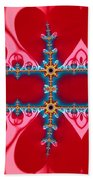 Gods Love And Mercy Is Infinite Fractal Abstract Hearts Beach Towel by Rose Santuci-Sofranko