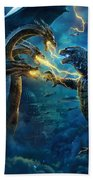 Godzilla II Rei Dos Monstros Beach Towel