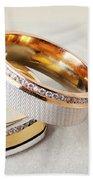 Gold Wedding Ring  Beach Towel