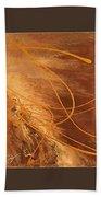 Wings Of Gold Brown Bckgrnd Beach Towel