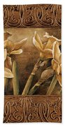 Golden Daffodils I    Beach Towel