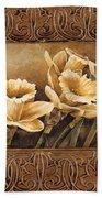 Golden Daffodils II    Beach Towel