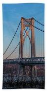 Golden Hour At Mid-hudson Bridge Beach Sheet