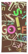 Golfing Print Press Beach Towel