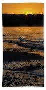 Good Harbor Bay Sunset Beach Towel