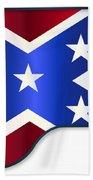 Grand Piano Confederate Flag Beach Towel