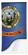 Grand Piano Idaho Flag Beach Towel