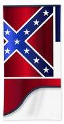 Grand Piano Mississippi Flag Beach Towel