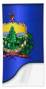 Grand Vermont Flag Beach Towel