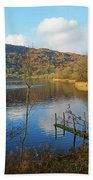 Grasmere In Late Autumn In Lake District National Park Cumbria Beach Sheet