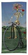 Grateful Dancing Cheer Skeletons Beach Sheet