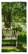 Graveyard Bench Beach Towel
